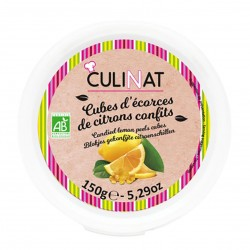 Photo Cubes d'écorces de citrons confits 150g bio Culinat