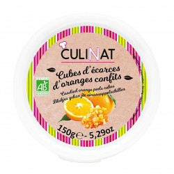 Photo Cubes d'écorces d'oranges confites 150g bio Culinat