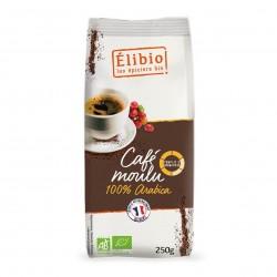 Photo Café moulu 100% arabica 250g bio Elibio