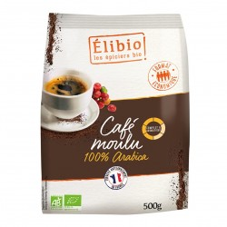 Photo Café moulu 100% arabica 500g bio Elibio
