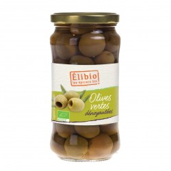 Photo Olives vertes dénoyautées 350g bio Elibio