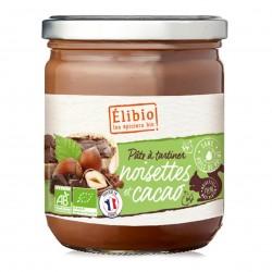 Photo Pâte à tartiner noisette et cacao 400g bio Elibio