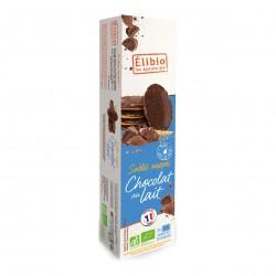 Photo Sablés nappés chocolat au lait 200g bio Elibio