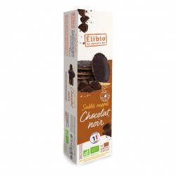 Photo Sablés nappés chocolat noir 200g bio Elibio