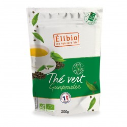 Photo Thé vert gunpowder 200g bio Elibio