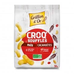 Photo Croq'soufflés maïs et cacahuète 50g bio Grillon d'Or