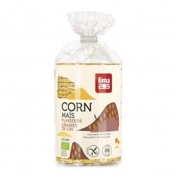 Photo Galettes de maïs aux graines de lin 130g bio Lima