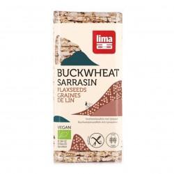 Photo Galettes de sarrasin aux graines de lin 150g bio Lima