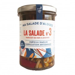 Photo Salade d'algues (haricot de mer) & légumes sauce soja 110g bio Marinoë