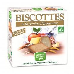 Photo Biscottes épeautre à l'huile d'olive 270g bio Moulin du Pivert
