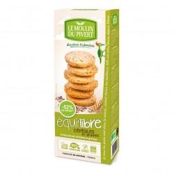 Photo Biscuits Equi'libre céréales et graines vegan 150g bio Moulin du Pivert