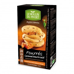 Photo Biscuits fourrés caramel au beurre salé 175g bio Moulin du Pivert