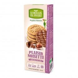 Photo Biscuits Plaisir noisette-chocolat au lait 130g bio Moulin du Pivert