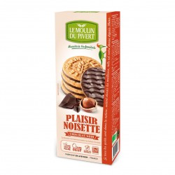 Photo Biscuits Plaisir noisette-chocolat noir vegan 130g bio Moulin du Pivert