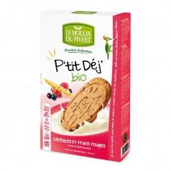 Photo Biscuits P'tit Déj' fruits rouges vegan 190g bio Moulin du Pivert