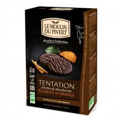 Photo Biscuits Tentation à l'orange et chocolat noir 130g bio Moulin du Pivert