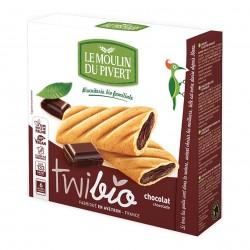 Photo Biscuits Twibio fourrés chocolat vegan 150g bio Moulin du Pivert