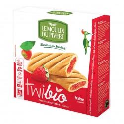 Photo Biscuits Twibio fourrés fraise vegan 150g bio Moulin du Pivert