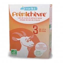 Photo Lait en poudre croissance Prémichèvre 12-36 mois 600g bio Premibio