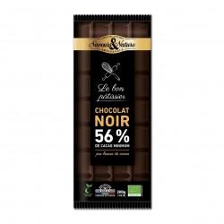Photo Chocolat noir à pâtisser 56% 200g bio Saveurs et Nature