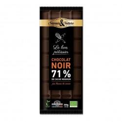 Photo Chocolat noir à pâtisser 71% 200g bio Saveurs et Nature
