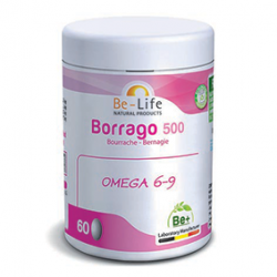Photo Borrago 500 bourrache Bio 60 capsules Be-Life