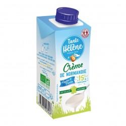 Photo Crème légère de Normandie UHT 15%MG 20cl bio Tante Hélène