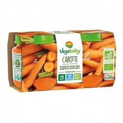 Photo Pot carottes 2x120g bio Vegebaby