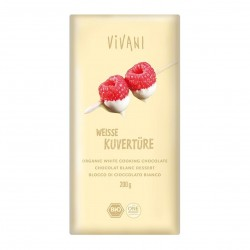 Photo Chocolat à pâtisser blanc 200g bio Vivani