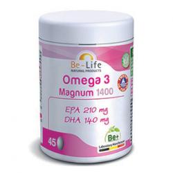 Photo Oméga 3 magnum 1400 45 capsules Be-Life