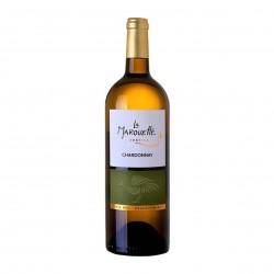 Photo Vin blanc Chardonnay Prestige  - La Marouette - IGP Pays d'Oc 75cl bio La Marouette