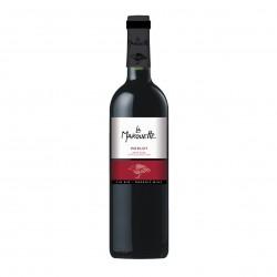 Photo Vin rouge Merlot - La Marouette - IGP Pays d'Oc 75cl bio La Marouette