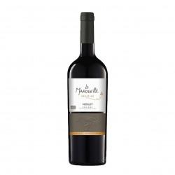 Photo Vin rouge Merlot Prestige - La Marouette - IGP Pays d'Oc 75cl bio La Marouette