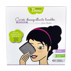 Photo Recharge carrés démaquillants lavables eucalyptus biface gris x10 Les Tendances d'Emma
