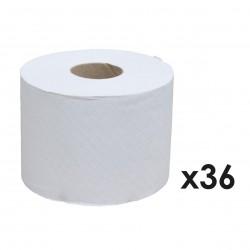 Photo Papier toilette blanc 100% recyclé 600 feuilles x36 Ecolabel Papeco