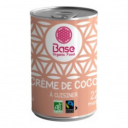 Photo Crème de coco 22% MG 400ml bio Base Organic
