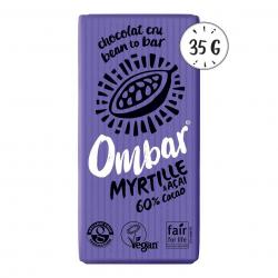 Photo Chocolat Cru Myrtille - Acai 35g Bio Ombar