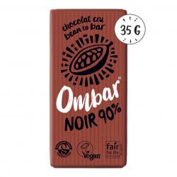 Photo Chocolat Cru 90% Cacao 35g Bio Ombar