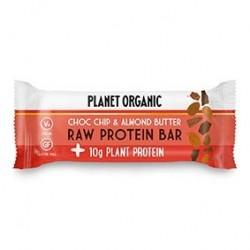 Photo Barre Protéinée Pâte d'Amandes-Pépites de Chocolat 50g Bio Planet Organic