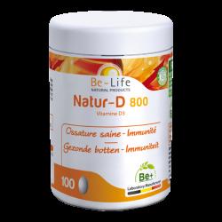 Photo Natur-D 800 (Vitamine D3) 100 capsules Be-Life