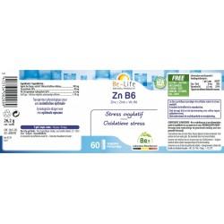Etiquette Zn B6 60 gélules Be-Life